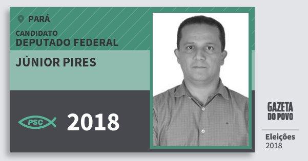 Santinho Júnior Pires 2018 (PSC) Deputado Federal | Pará | Eleições 2018
