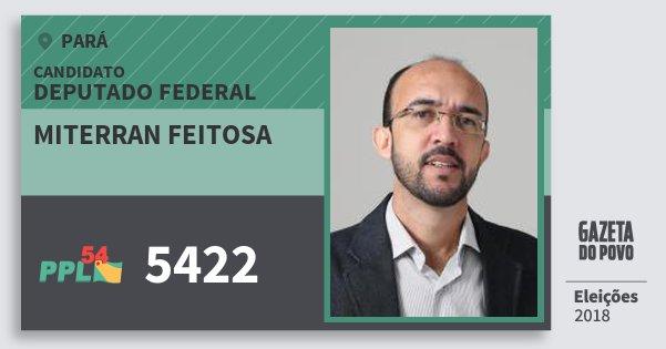Santinho Miterran Feitosa 5422 (PPL) Deputado Federal   Pará   Eleições 2018