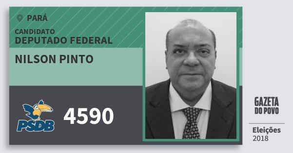 Santinho Nilson Pinto 4590 (PSDB) Deputado Federal | Pará | Eleições 2018