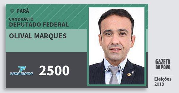 Santinho Olival Marques 2500 (DEM) Deputado Federal | Pará | Eleições 2018