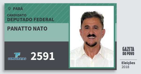 Santinho Panatto Nato 2591 (DEM) Deputado Federal | Pará | Eleições 2018