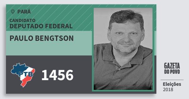 Santinho Paulo Bengtson 1456 (PTB) Deputado Federal | Pará | Eleições 2018