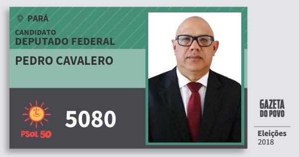 Santinho Pedro Cavalero 5080 (PSOL) Deputado Federal | Pará | Eleições 2018