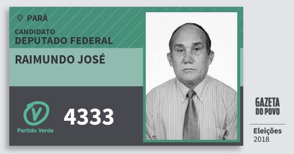 Santinho Raimundo José 4333 (PV) Deputado Federal | Pará | Eleições 2018