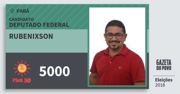 Santinho Rubenixson 5000 (PSOL) Deputado Federal | Pará | Eleições 2018