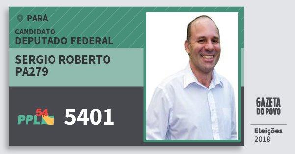 Santinho Sergio Roberto Pa279 5401 (PPL) Deputado Federal | Pará | Eleições 2018