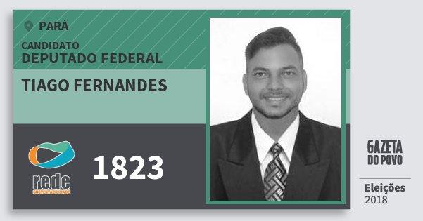 Santinho Tiago Fernandes 1823 (REDE) Deputado Federal | Pará | Eleições 2018