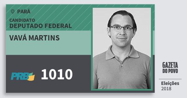 Santinho Vavá Martins 1010 (PRB) Deputado Federal | Pará | Eleições 2018