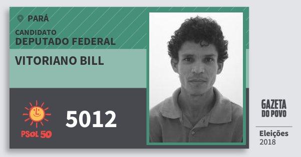 Santinho Vitoriano Bill 5012 (PSOL) Deputado Federal | Pará | Eleições 2018
