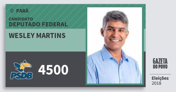 Santinho Wesley Martins 4500 (PSDB) Deputado Federal | Pará | Eleições 2018