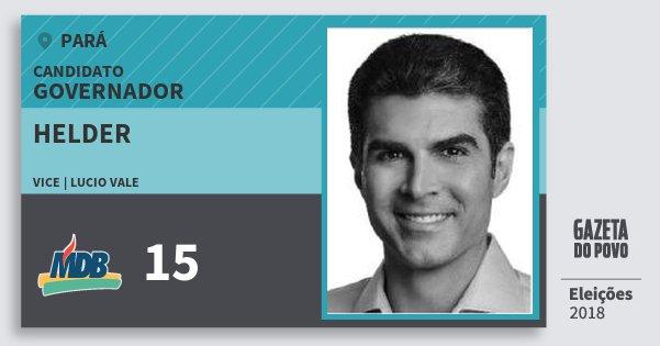 Santinho Helder 15 (MDB) Governador | Pará | Eleições 2018