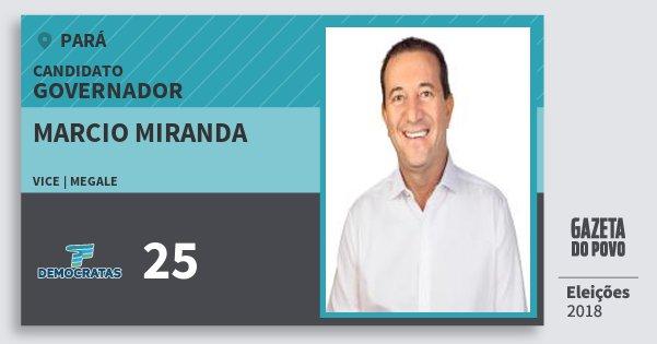 Santinho Marcio Miranda 25 (DEM) Governador | Pará | Eleições 2018
