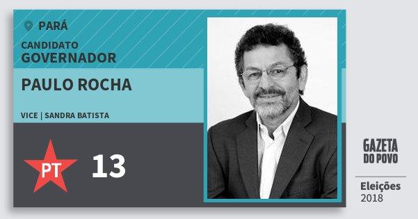 Santinho Paulo Rocha 13 (PT) Governador | Pará | Eleições 2018
