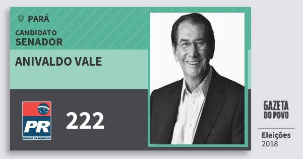Santinho Anivaldo Vale 222 (PR) Senador | Pará | Eleições 2018