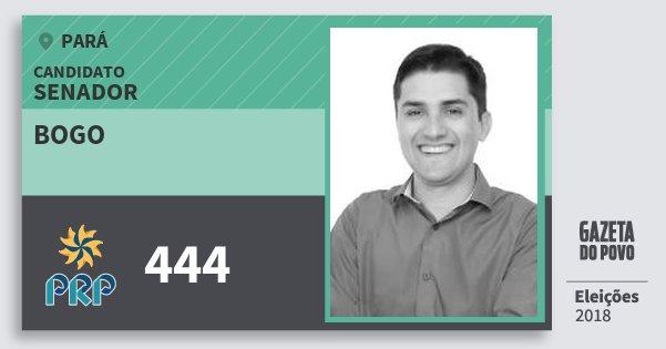 Santinho Bogo 444 (PRP) Senador | Pará | Eleições 2018