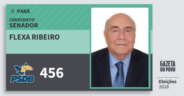 Santinho Flexa Ribeiro 456 (PSDB) Senador | Pará | Eleições 2018