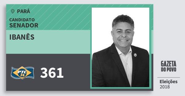 Santinho Ibanês 361 (PTC) Senador | Pará | Eleições 2018