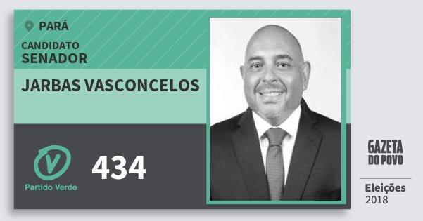 Santinho Jarbas Vasconcelos 434 (PV) Senador | Pará | Eleições 2018