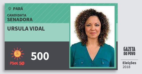 Santinho Ursula Vidal 500 (PSOL) Senadora | Pará | Eleições 2018