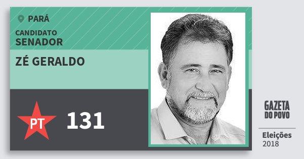 Santinho Zé Geraldo 131 (PT) Senador   Pará   Eleições 2018