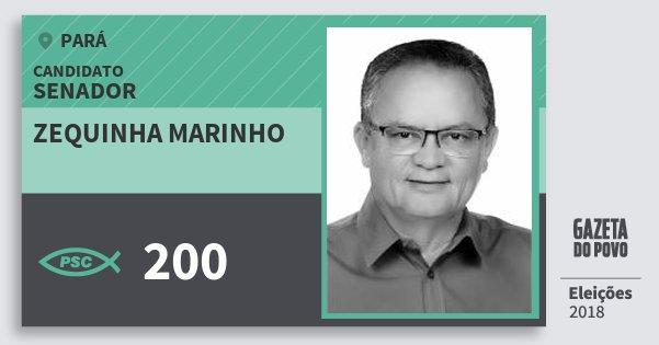 Santinho Zequinha Marinho 200 (PSC) Senador   Pará   Eleições 2018