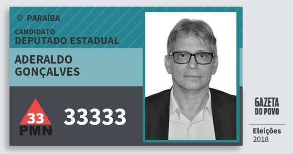 Santinho Aderaldo Gonçalves 33333 (PMN) Deputado Estadual | Paraíba | Eleições 2018