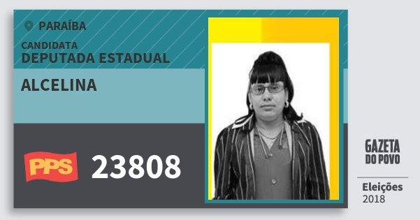 Santinho Alcelina 23808 (PPS) Deputada Estadual | Paraíba | Eleições 2018