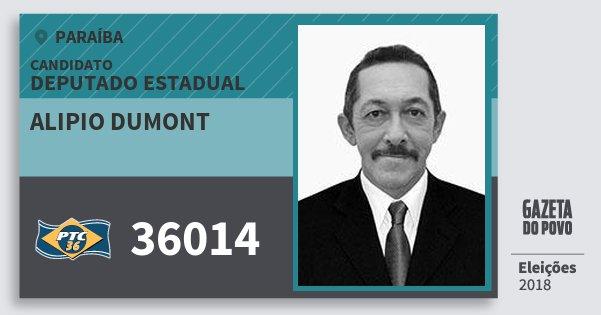 Santinho Alipio Dumont 36014 (PTC) Deputado Estadual | Paraíba | Eleições 2018