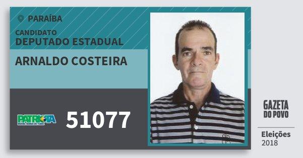 Santinho Arnaldo Costeira 51077 (PATRI) Deputado Estadual | Paraíba | Eleições 2018