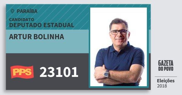 Santinho Artur Bolinha 23101 (PPS) Deputado Estadual | Paraíba | Eleições 2018