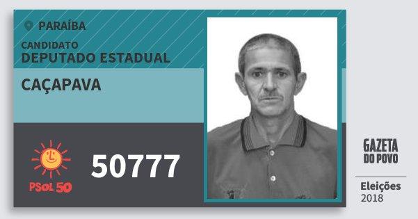 Santinho Caçapava 50777 (PSOL) Deputado Estadual | Paraíba | Eleições 2018