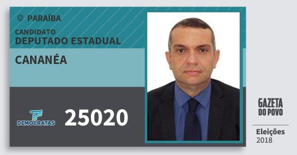 Santinho Cananéa 25020 (DEM) Deputado Estadual | Paraíba | Eleições 2018