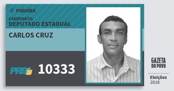 Santinho Carlos Cruz 10333 (PRB) Deputado Estadual | Paraíba | Eleições 2018