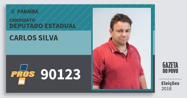 Santinho Carlos Silva 90123 (PROS) Deputado Estadual | Paraíba | Eleições 2018