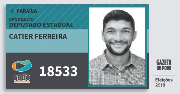 Santinho Catier Ferreira 18533 (REDE) Deputado Estadual | Paraíba | Eleições 2018