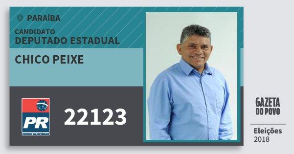 Santinho Chico Peixe 22123 (PR) Deputado Estadual | Paraíba | Eleições 2018