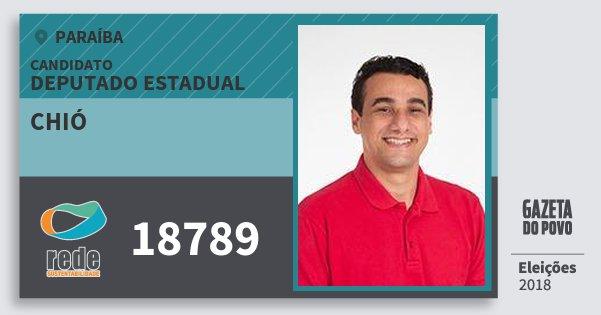 Santinho Chió 18789 (REDE) Deputado Estadual | Paraíba | Eleições 2018