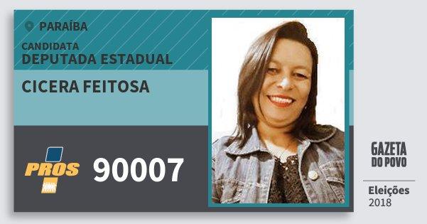 Santinho Cicera Feitosa 90007 (PROS) Deputada Estadual   Paraíba   Eleições 2018
