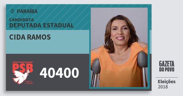 Santinho Cida Ramos 40400 (PSB) Deputada Estadual | Paraíba | Eleições 2018