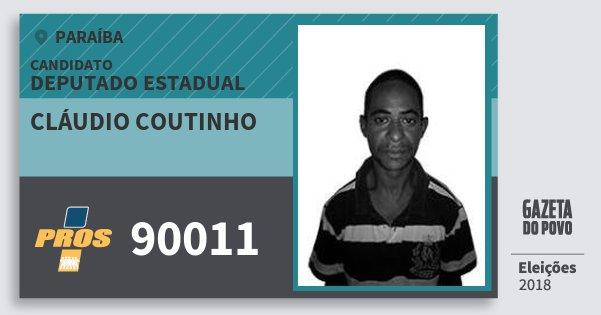 Santinho Cláudio Coutinho 90011 (PROS) Deputado Estadual | Paraíba | Eleições 2018