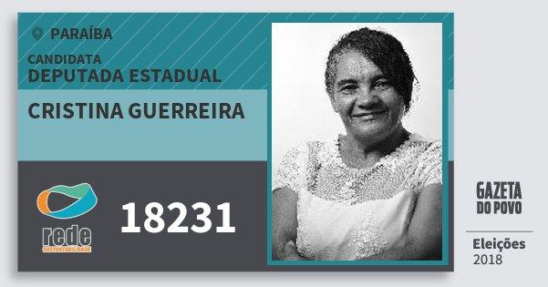 Santinho Cristina Guerreira 18231 (REDE) Deputada Estadual | Paraíba | Eleições 2018