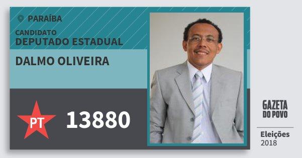 Santinho Dalmo Oliveira 13880 (PT) Deputado Estadual | Paraíba | Eleições 2018