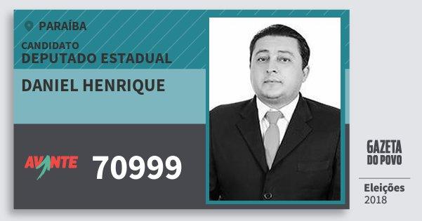 Santinho Daniel Henrique 70999 (AVANTE) Deputado Estadual | Paraíba | Eleições 2018