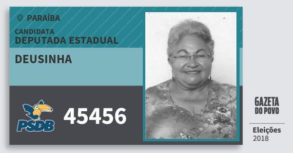 Santinho Deusinha 45456 (PSDB) Deputada Estadual | Paraíba | Eleições 2018