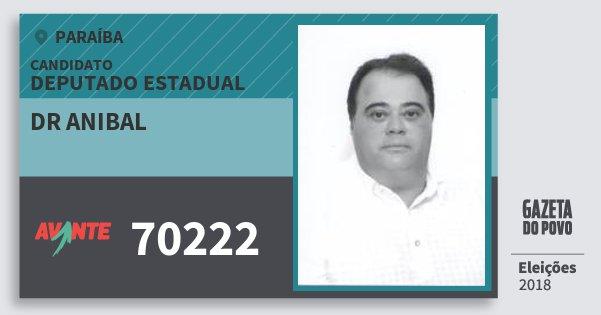 Santinho Dr Anibal 70222 (AVANTE) Deputado Estadual | Paraíba | Eleições 2018
