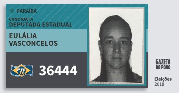 Santinho Eulália Vasconcelos 36444 (PTC) Deputada Estadual | Paraíba | Eleições 2018