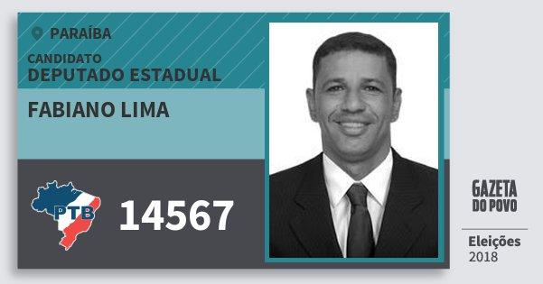 Santinho Fabiano Lima 14567 (PTB) Deputado Estadual | Paraíba | Eleições 2018