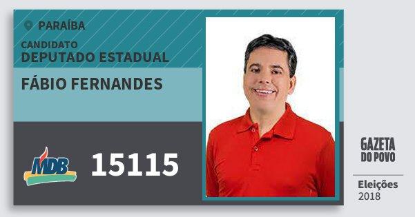 Santinho Fábio Fernandes 15115 (MDB) Deputado Estadual | Paraíba | Eleições 2018