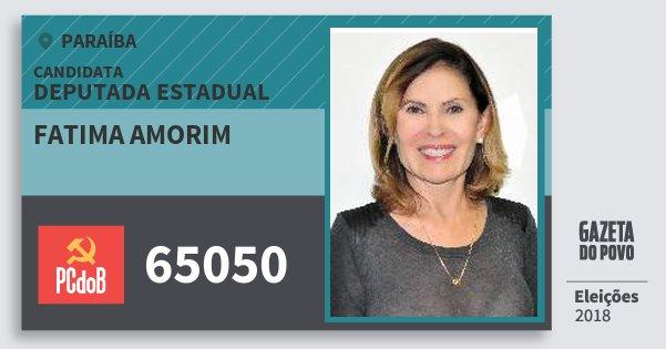 Santinho Fatima Amorim 65050 (PC do B) Deputada Estadual | Paraíba | Eleições 2018