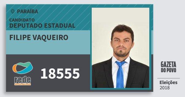 Santinho Filipe Vaqueiro 18555 (REDE) Deputado Estadual | Paraíba | Eleições 2018